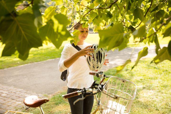 Gesund Radfahren - mit Helm