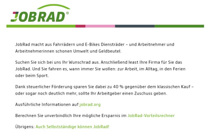 Logo mit JobRad-Intro