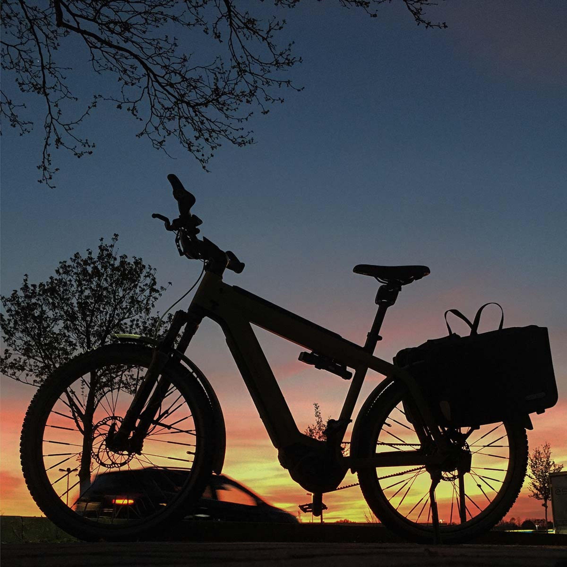 Jobrad vor Sonnenuntergang