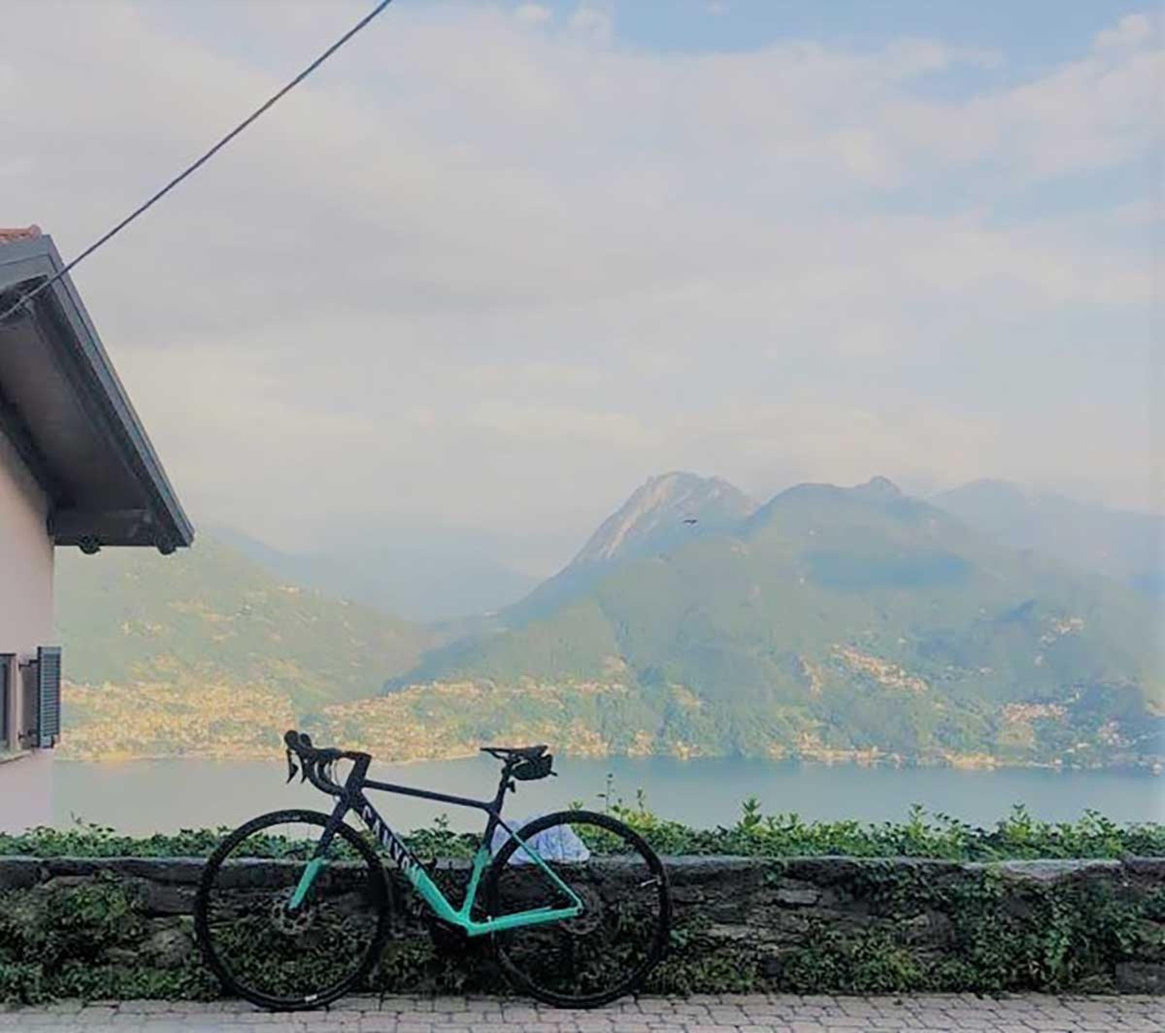 Ich war im Herbst mit dem Rennrad am Comer See unterwegs.