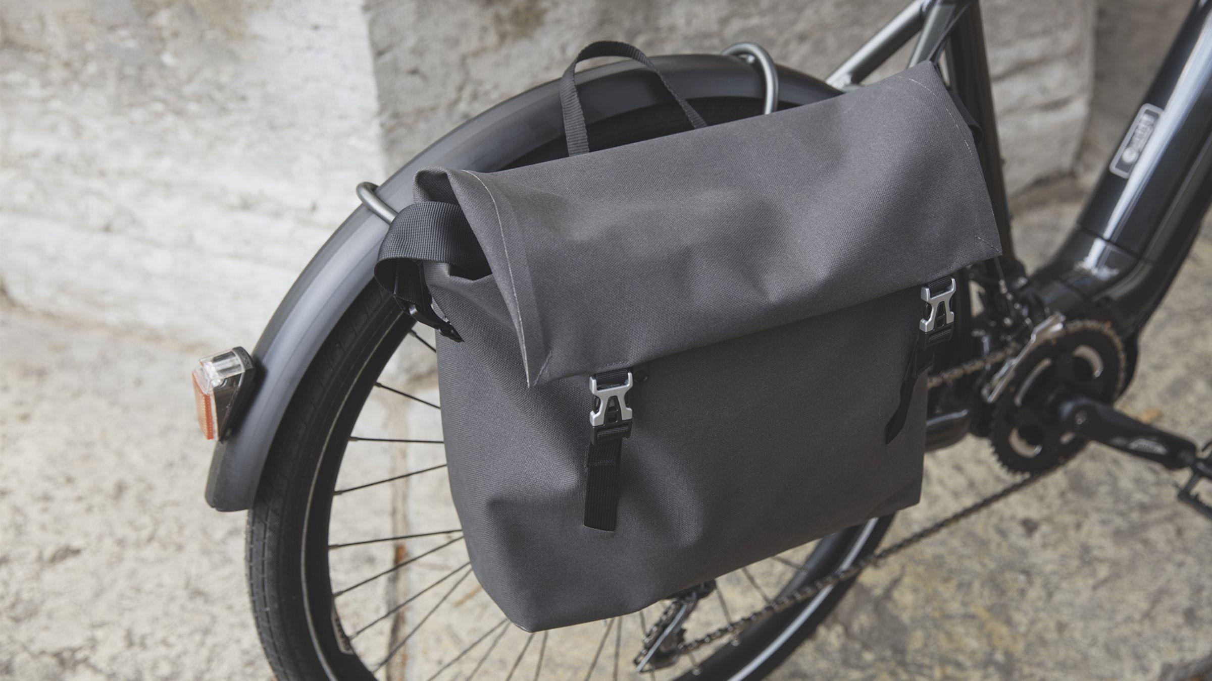 Satteltasche am Fahrrad als leasingfähiges Zubehör